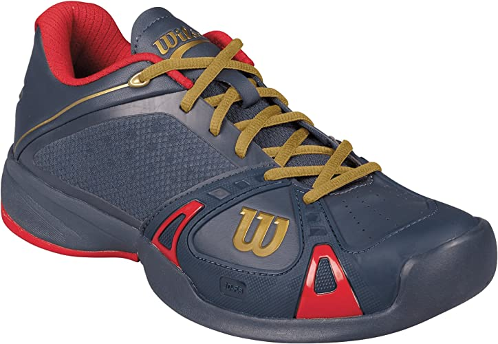 ferry Independently How nice  Wilson Rush Pro CC 100 Years Edition Men's Tennis Shoes (Dark Blue/red/Gold)  - EU 45 1/3 - UK 10,5 - EU 45 1/3 - UK 10,5: Amazon.co.uk: Shoes & Bags