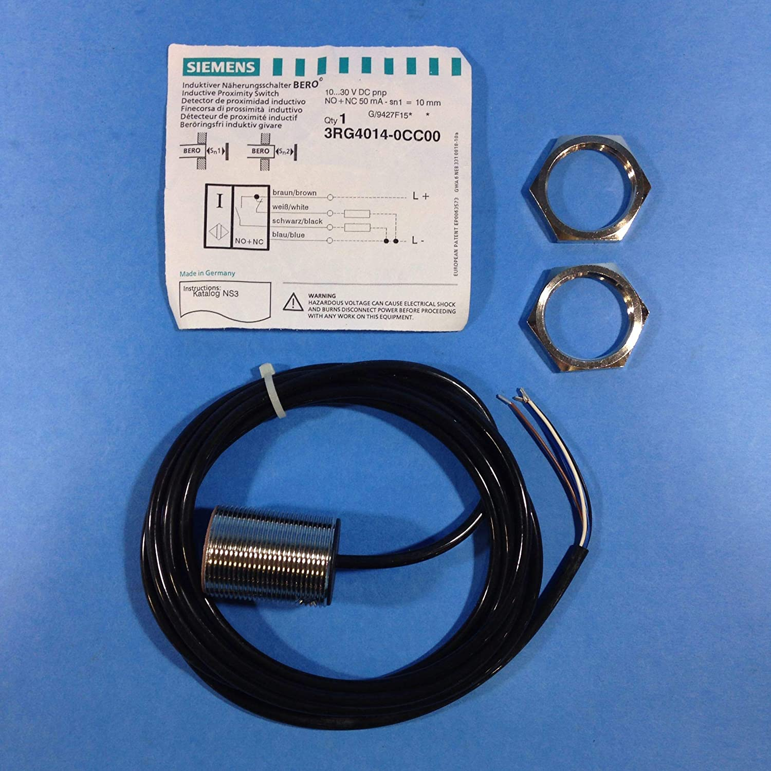 Siemens 3RG4014-0CC00 Inductive Proximity Switch: Amazon.com: Industrial & Scientific
