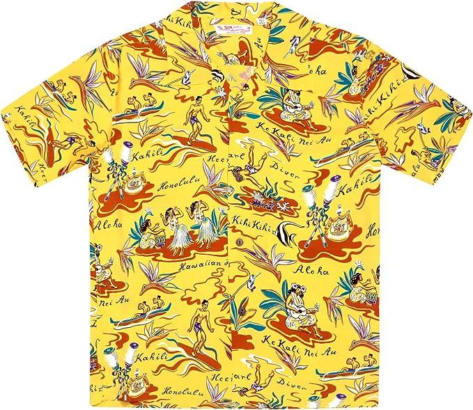 Sun Surf SURF8587 - Camisa hawaiana para hombre, color amarillo: Amazon.es: Ropa y accesorios