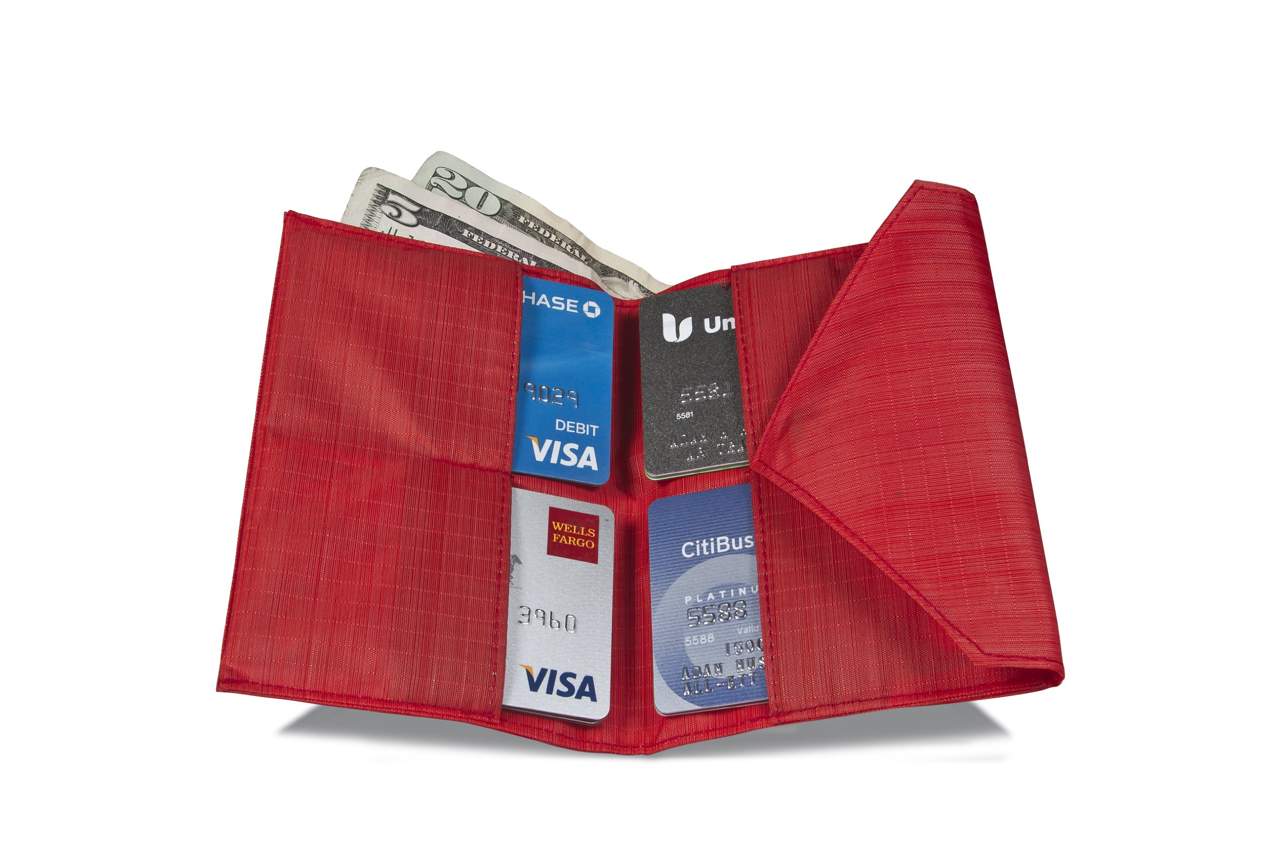 Allett Slim Nylon Women's Wallet - Red by Allett (Image #1)