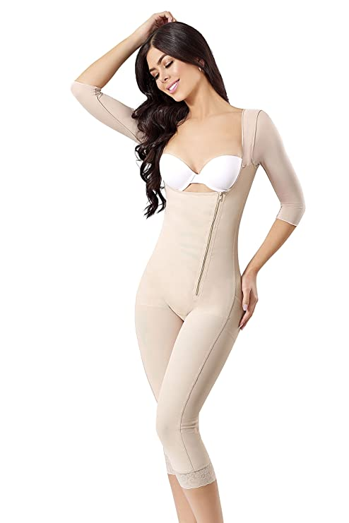 WONDERFUL WF Fajas Colombianas Reductoras Moldeadoras High Compression Garments After Liposuction Full Bodysuit 0466 (Beige, L) at Amazon Womens Clothing ...