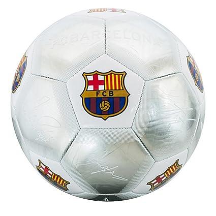 Amazon.com: Barcelona Plata Signature – Balón de fútbol ...
