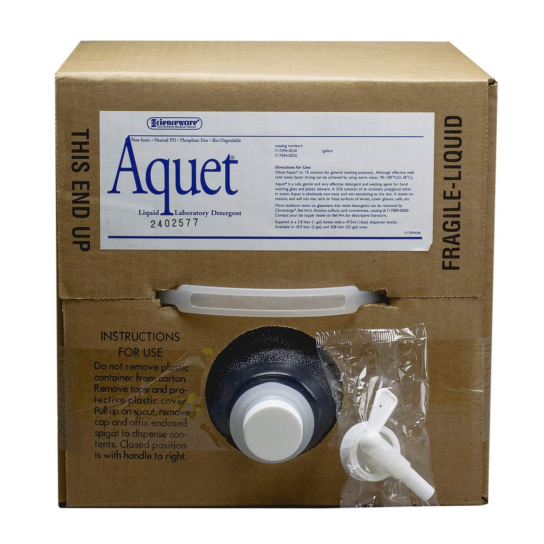 Aquet Detergent, 5 Gallon (20 L) Cubitainer by Bel-Art Products (Image #1)