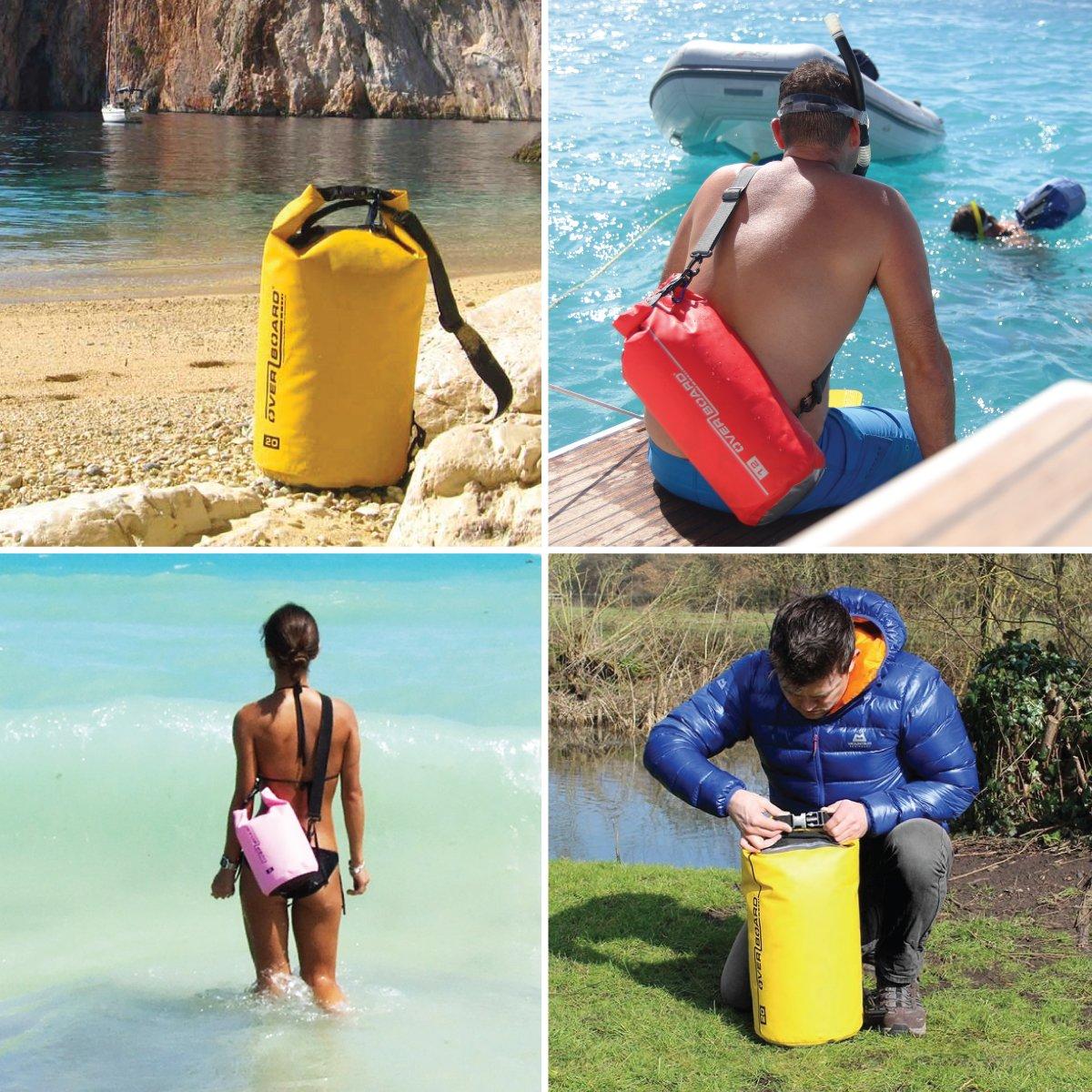 Angeln Kajak Schwimmen Camping und Snowboarden Overboard wasserdichte Trockenr/öhrentasche mit verstellbarem Schulterriemen zum Bootfahren Rafting