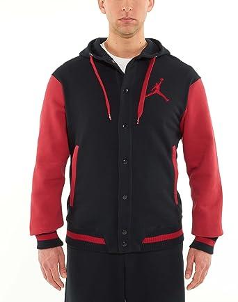 classic special section amazing selection Nike Jordan Varsity Hoodie Sweatshirt Collegejacke 451582-016 rot/schwarz