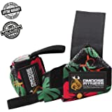 DMoose Fitness Wrist Wraps – Premium Quality, Strong Velcro, Thumb Loops – Maximize Your Weightlifting, Powerlifting, Bodybuilding, Strength Training & CrossFit