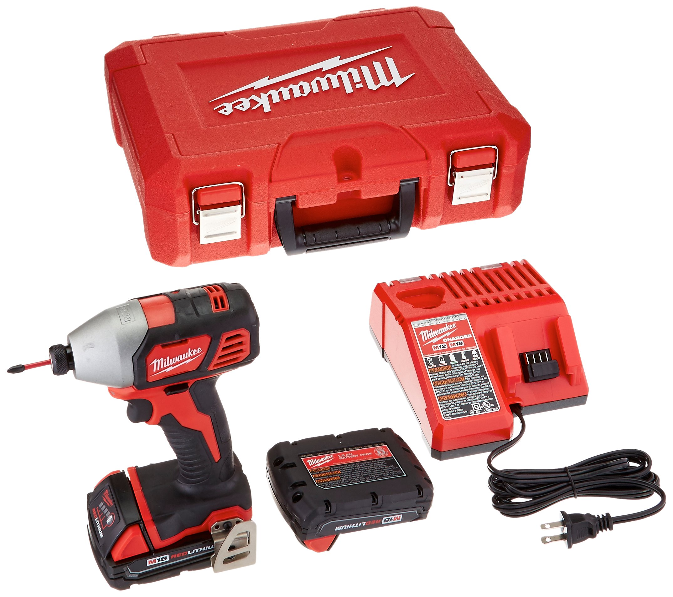 Milwaukee 2656-22CT M18 1/4'' Hex Impact Driver Kit