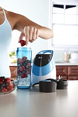 Oster BLSTPB-WBL My Blend 250-Watt Blender with Travel Sport Bottle