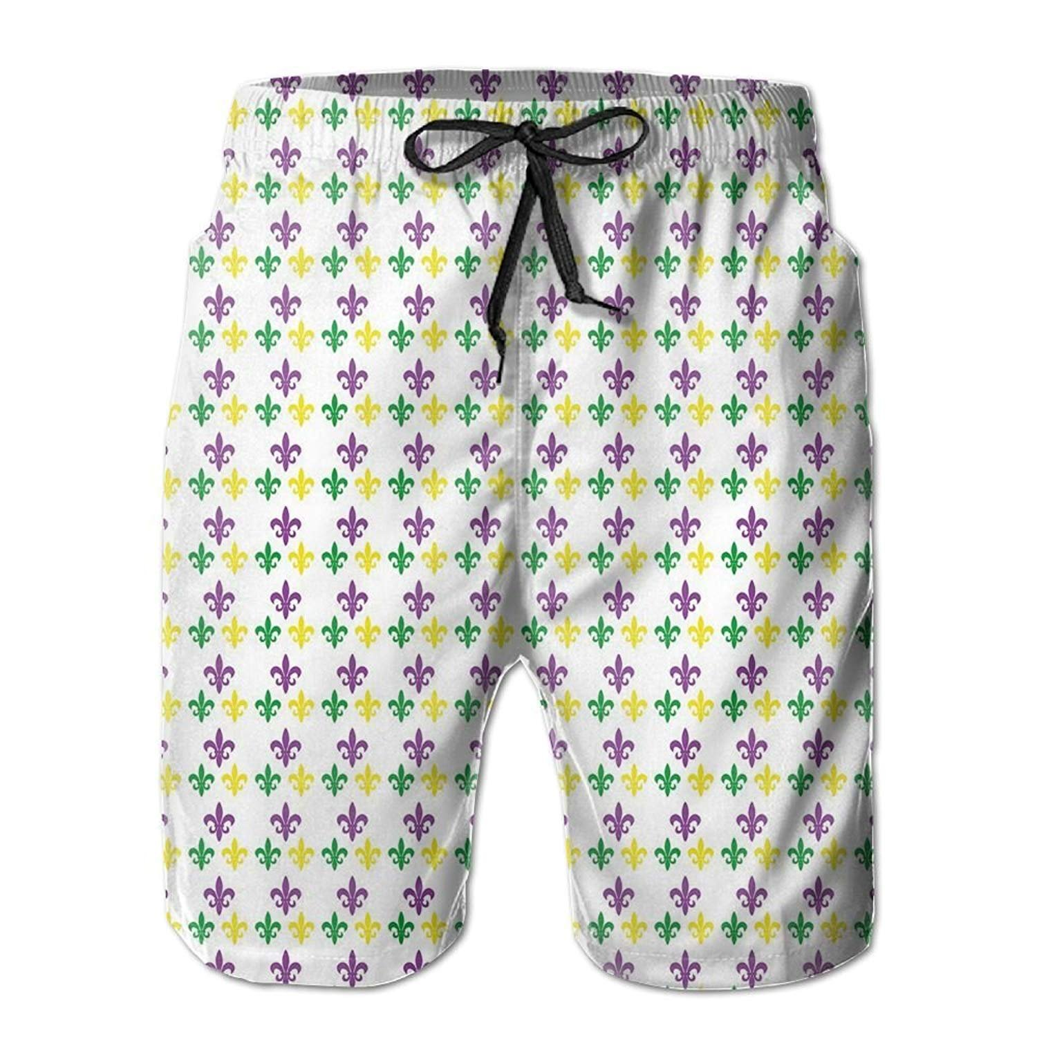 MSGDF Beach Shorts Artistic Butterfly Mens Breathable Swim Trunks Exercise Board Pants