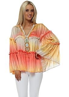 b8b01da96e7000 Monaco Pink Sequins   Lace Cold Shoulder Top One Size Pink  Amazon ...