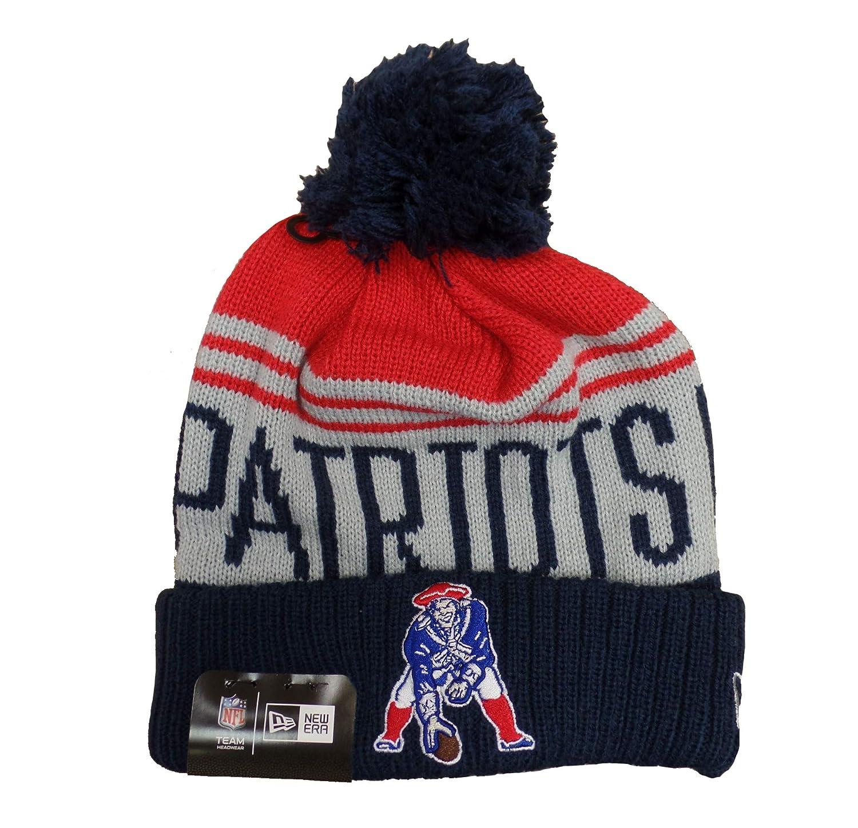 7af013c4 Amazon.com : New England Patriots Retro Team Pride Pom Knit Hat/Cap ...