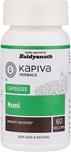 Kapiva Noni Capsules, Veg Natural Antioxidant Aids Weight Loss Supplement- Boosts Immunity and Regulates Blood Pressure, 500 Mg- 60 Caps