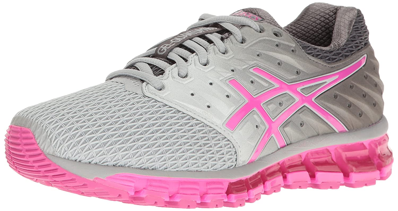 ASICS Women's Gel-Quantum 180 2 Running Shoe B01GU677A8 10.5 B(M) US|Mid Grey/Pink Glow/Carbon