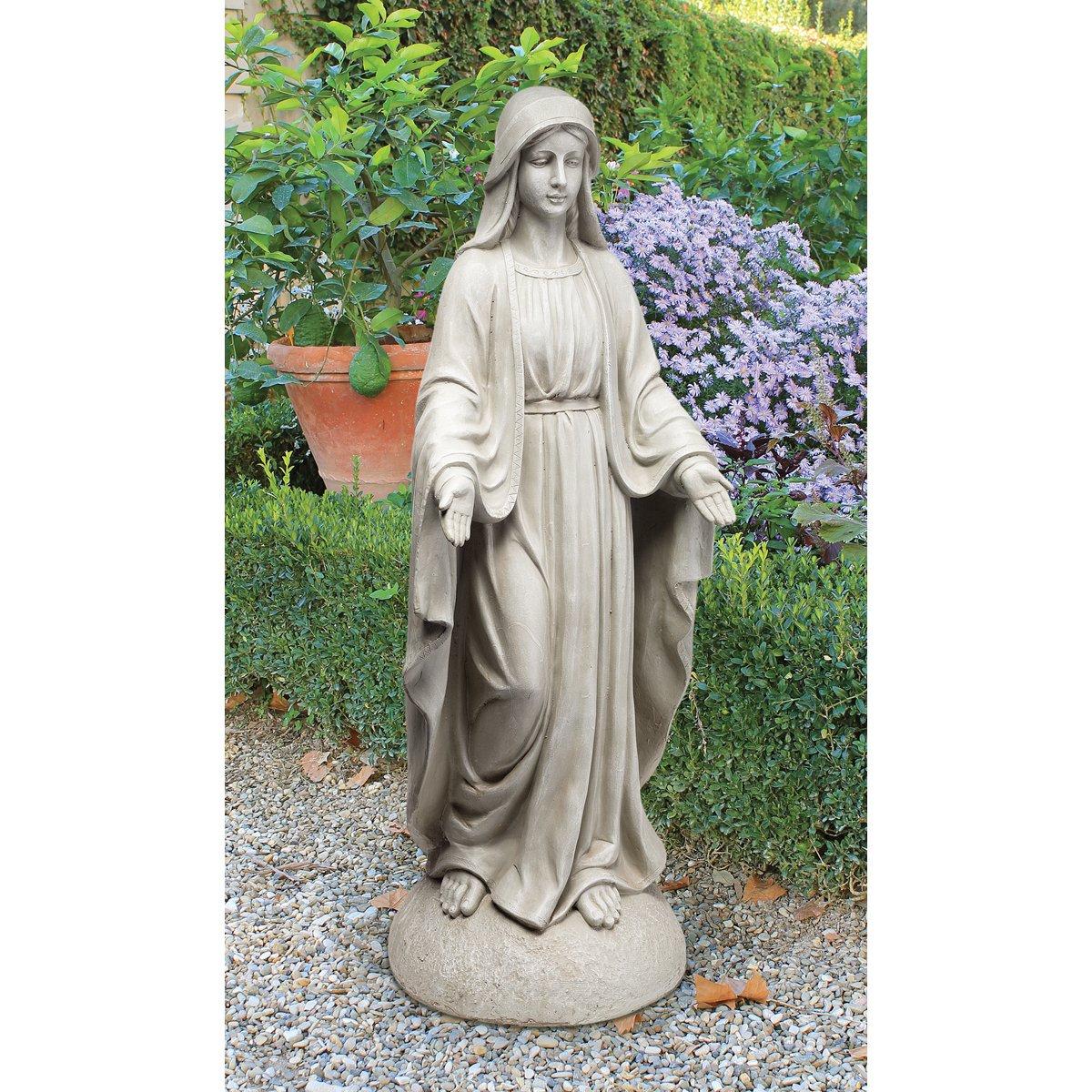 Amazon.com : Design Toscano Madonna Of Notre Dame Garden Statue, Antique  Stone : Outdoor Statues : Garden U0026 Outdoor