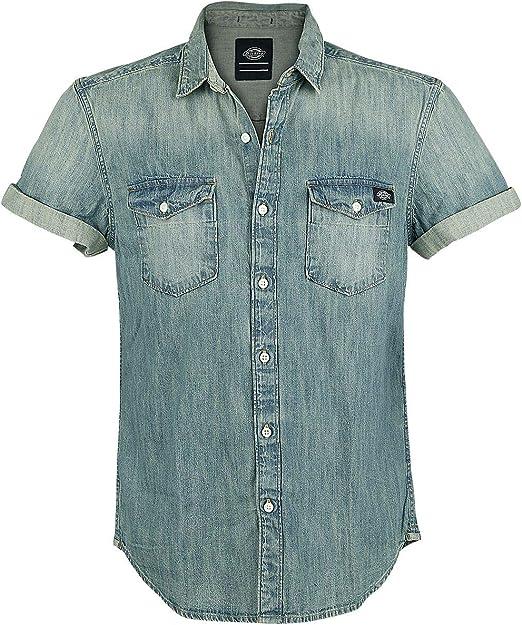 Dickies Morro Bay Camisa Vaquera, Azul(Bleach Stonewash), Small(Tamaño del Fabricante:Small) para Hombre: Amazon.es: Ropa y accesorios
