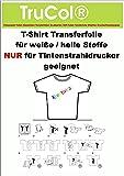 Premium 50 Blatt DIN A4 T-Shirt Transferfolie Transferpapier Folie für HELLE Stoffe vom Markenhersteller !!!