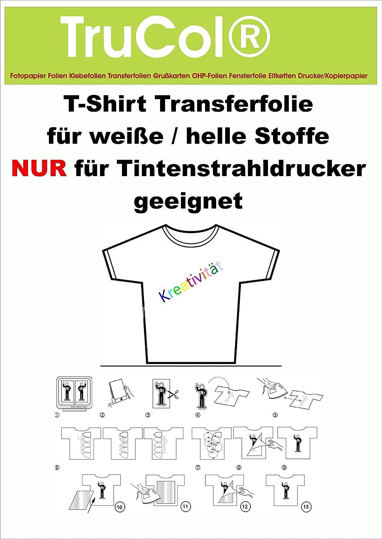10 hojas de A4 camiseta Transferencia Láminas para ...