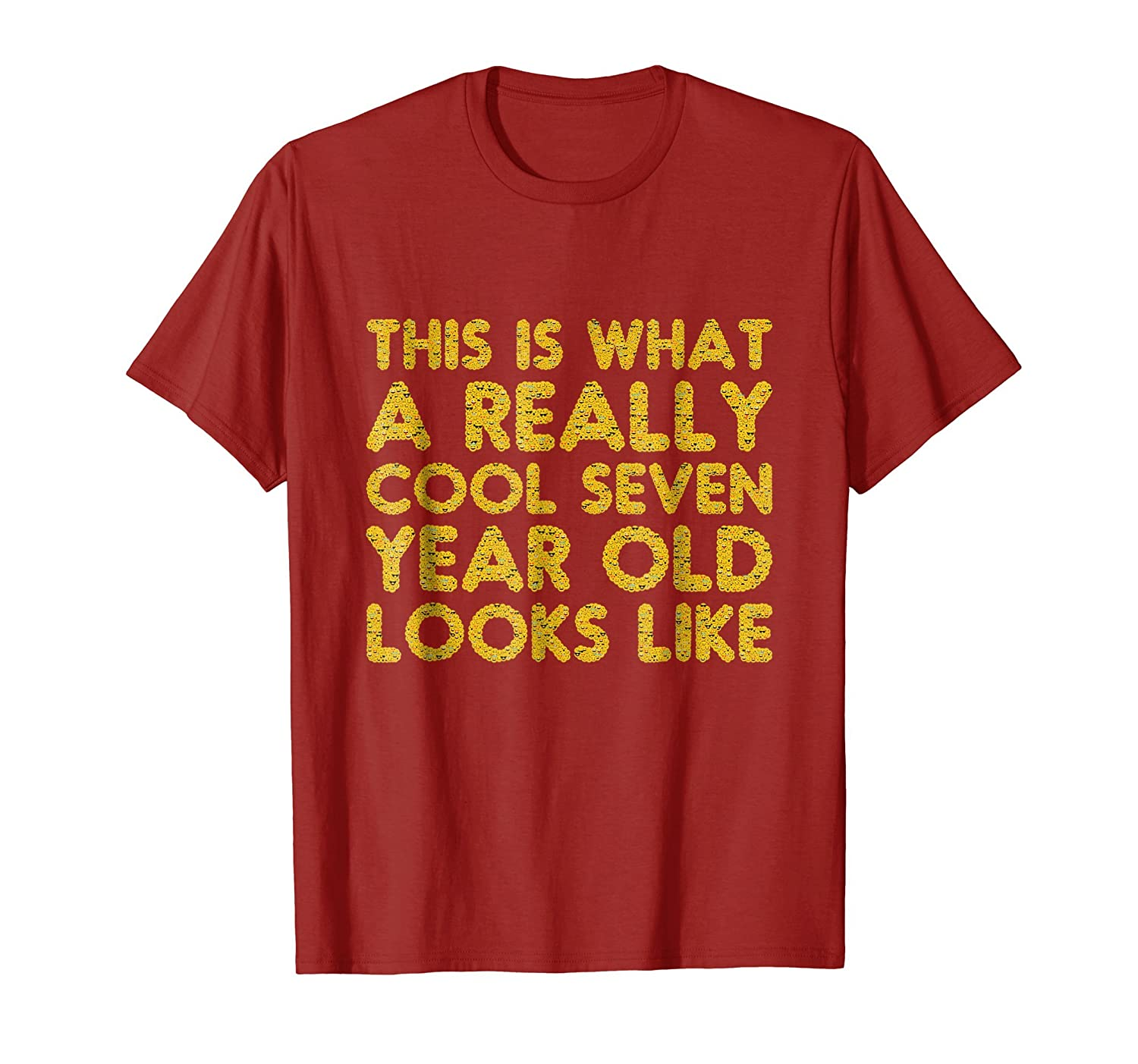 7th Birthday Shirt Gift Cool Age Seven 7 Year Old Boy Girl Prm