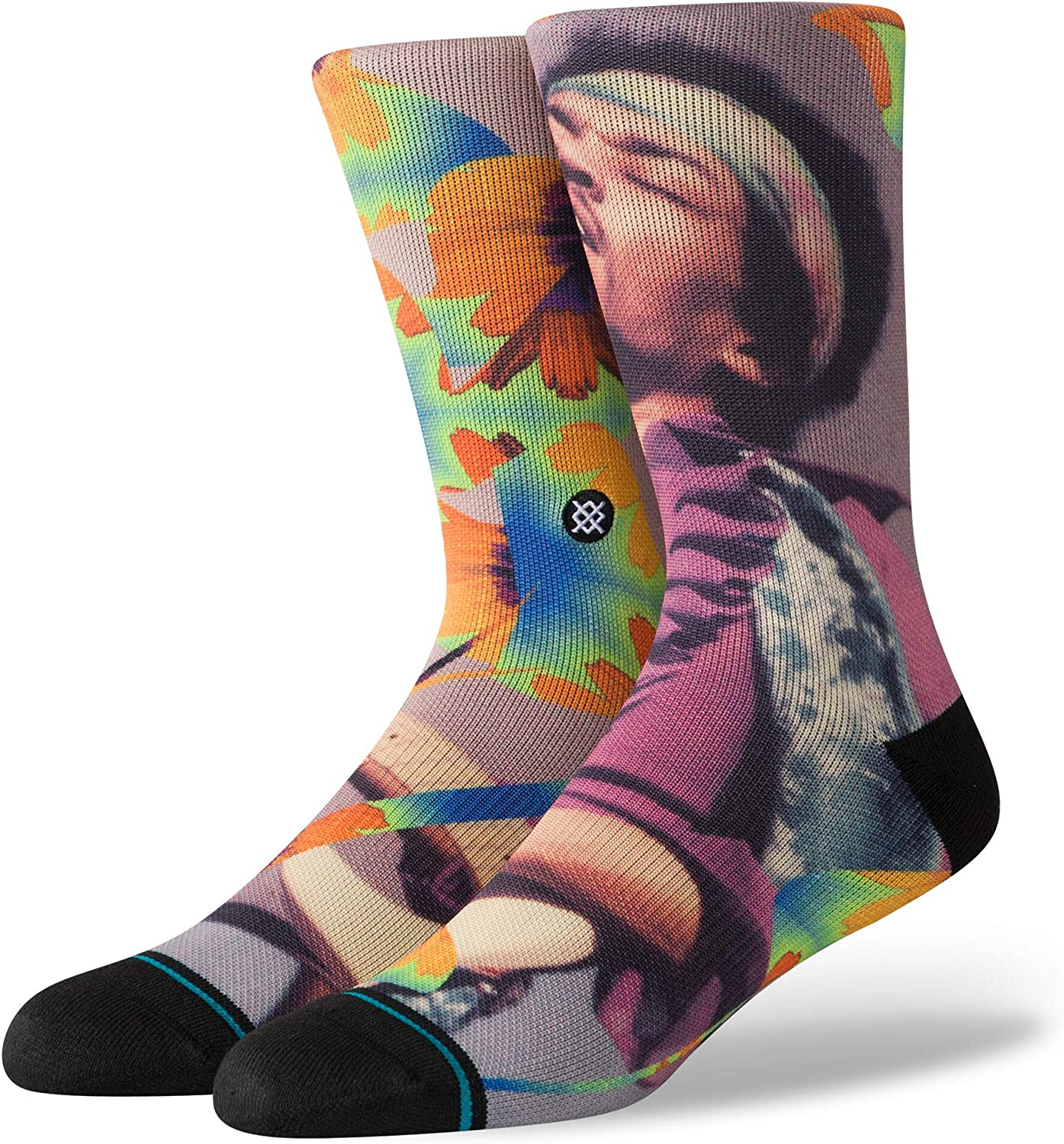 Stance Men's M558D19JIM Jimi Flowers Crew Sock