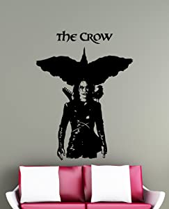 The Crow Wall Decal Movie Vinyl Sticker Room Interior Decoration Home Kids Room Art Design Removable Waterproof Mural (395z)