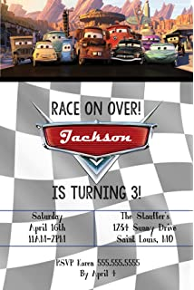 Custom - Birthday Party Invitations - Cars Themed