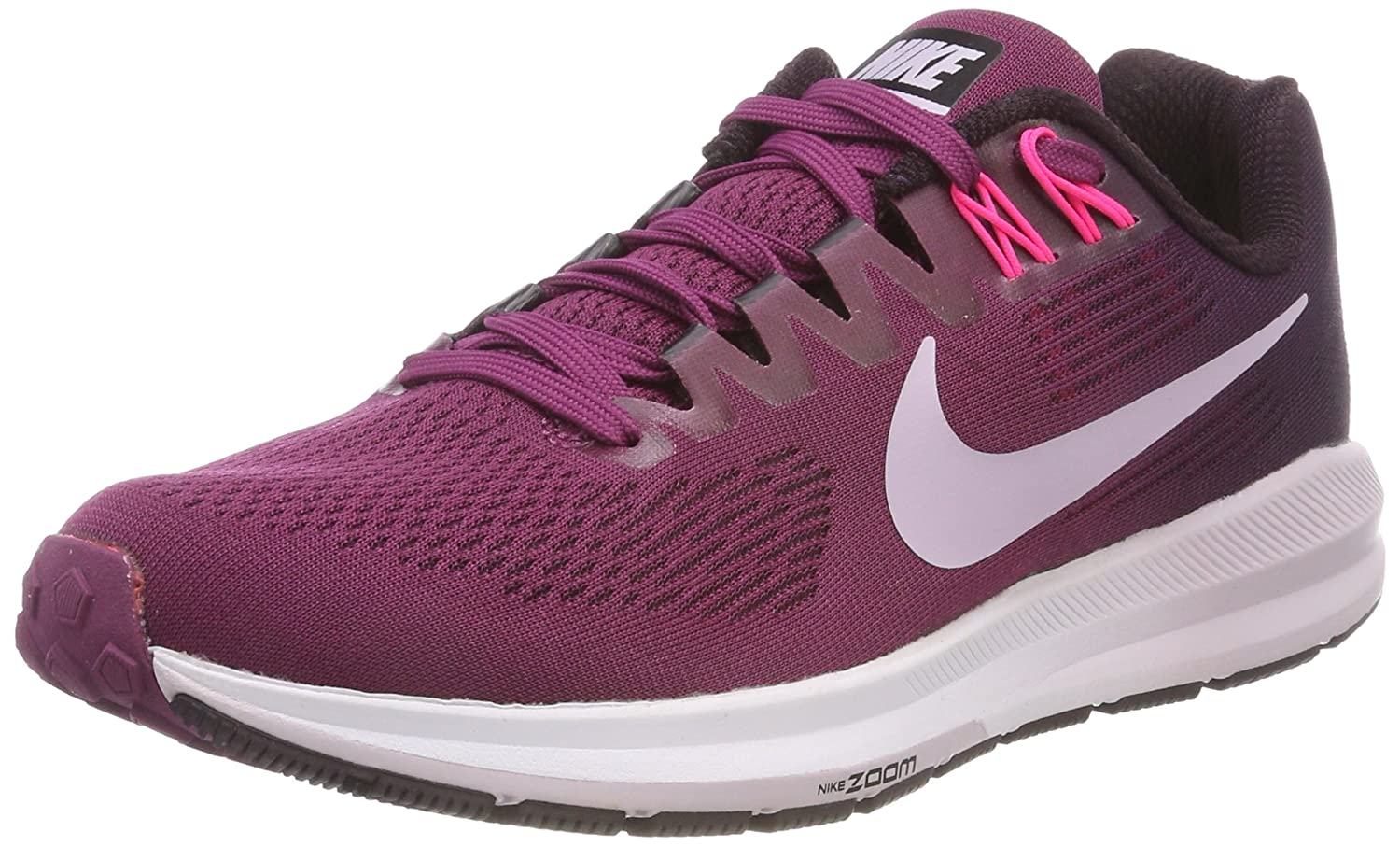 NIKE Women's Air Zoom Structure 21 Running Shoe B001FB2HZY 6.5 B(M) US|Tea Berry/Iced Lilac-port Wine