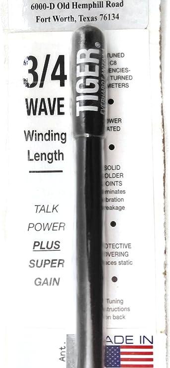 "Lot of 2 Everhardt TSM3-W 3//4 Wave 3 ft Fiberglass ""Super Flex"" CB Antenna-White"