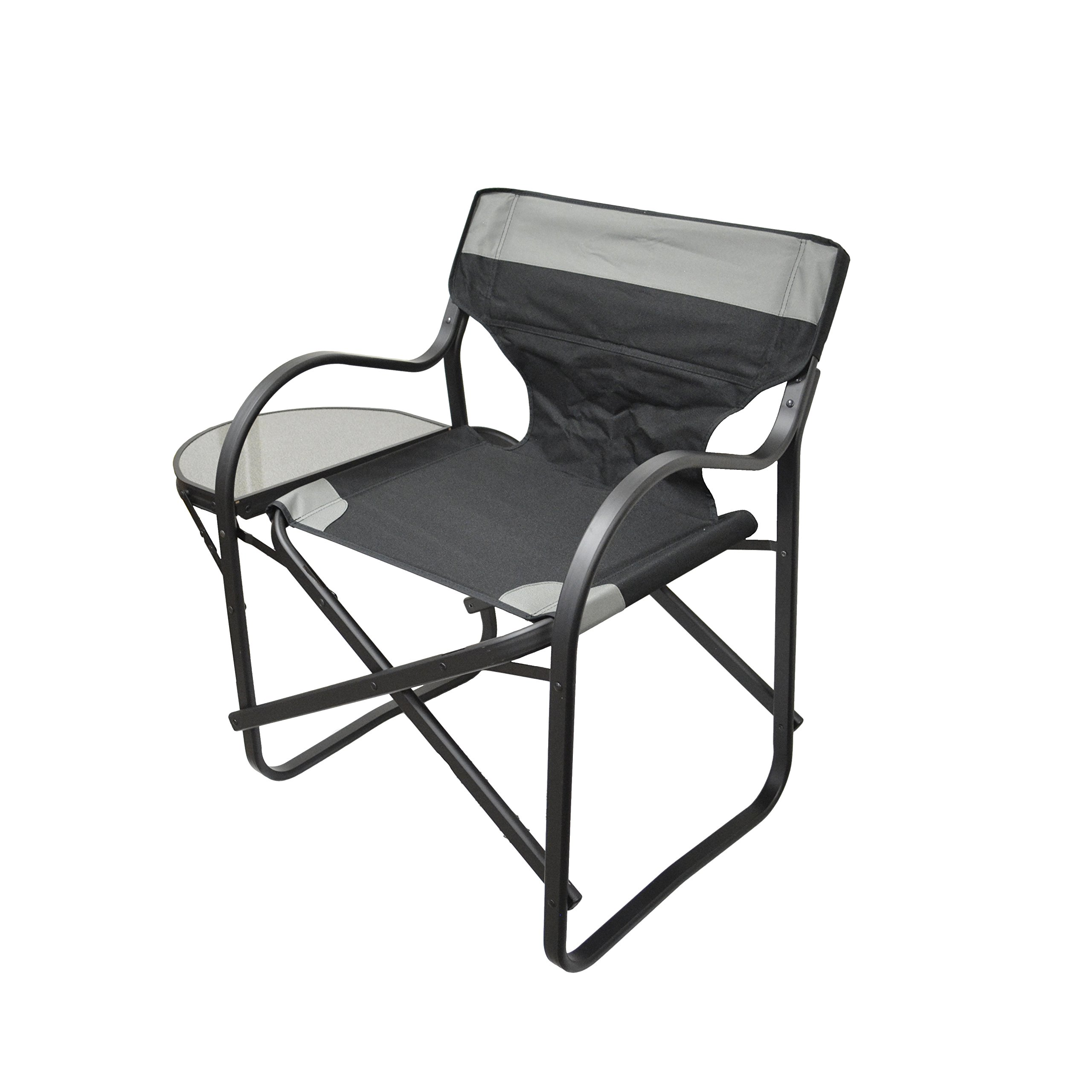 Folding Directors Chair with Side Table (Extra Wide Design)