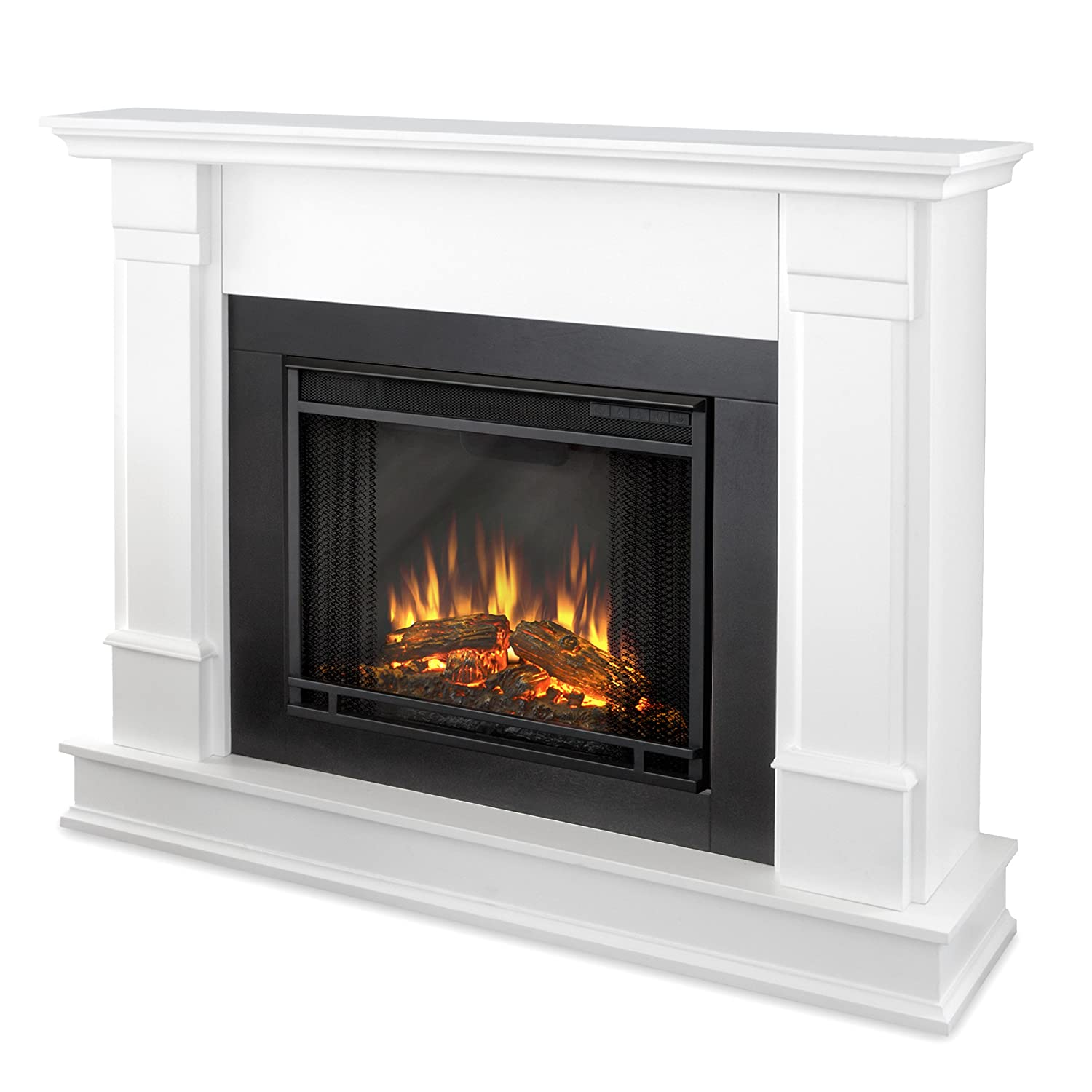 Real Flame G8600E-W Silverton Electric Fireplace, Medium, White