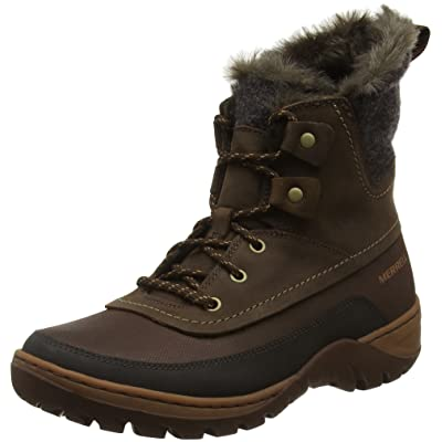 Merrell Women's Sylva Mid Lace Waterproof-W Snow Boot