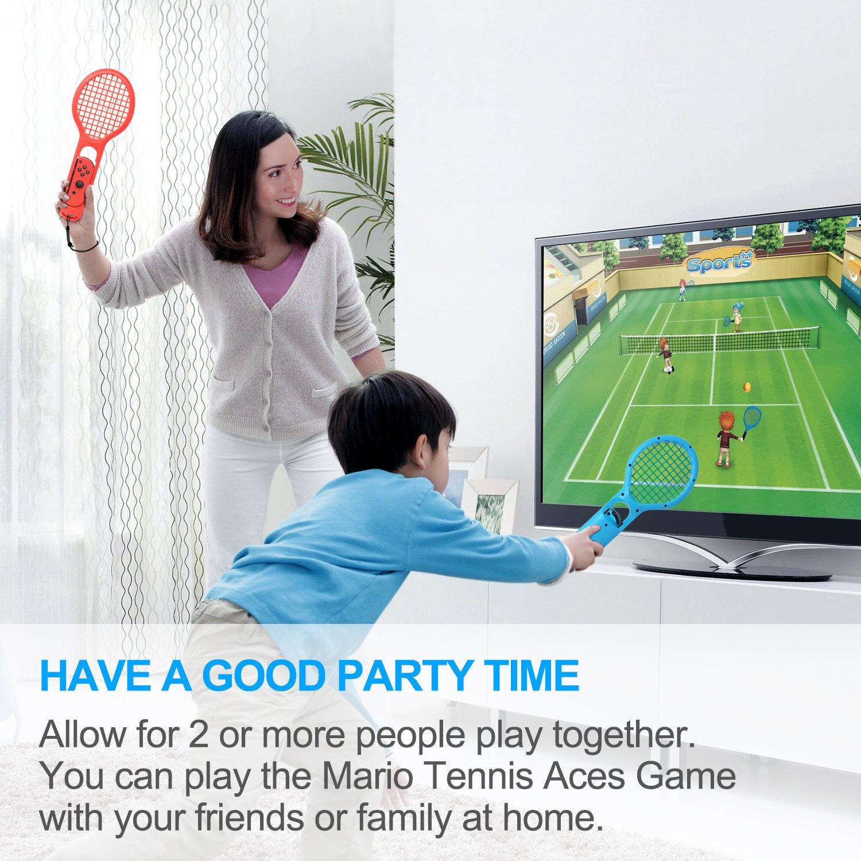 Amazon.com: fastsnail raqueta de tenis para Nintendo ...