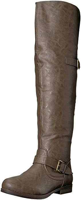 f09d325932a Brinley Co Women s Sugar Over The Knee Boot  Amazon.co.uk  Shoes   Bags