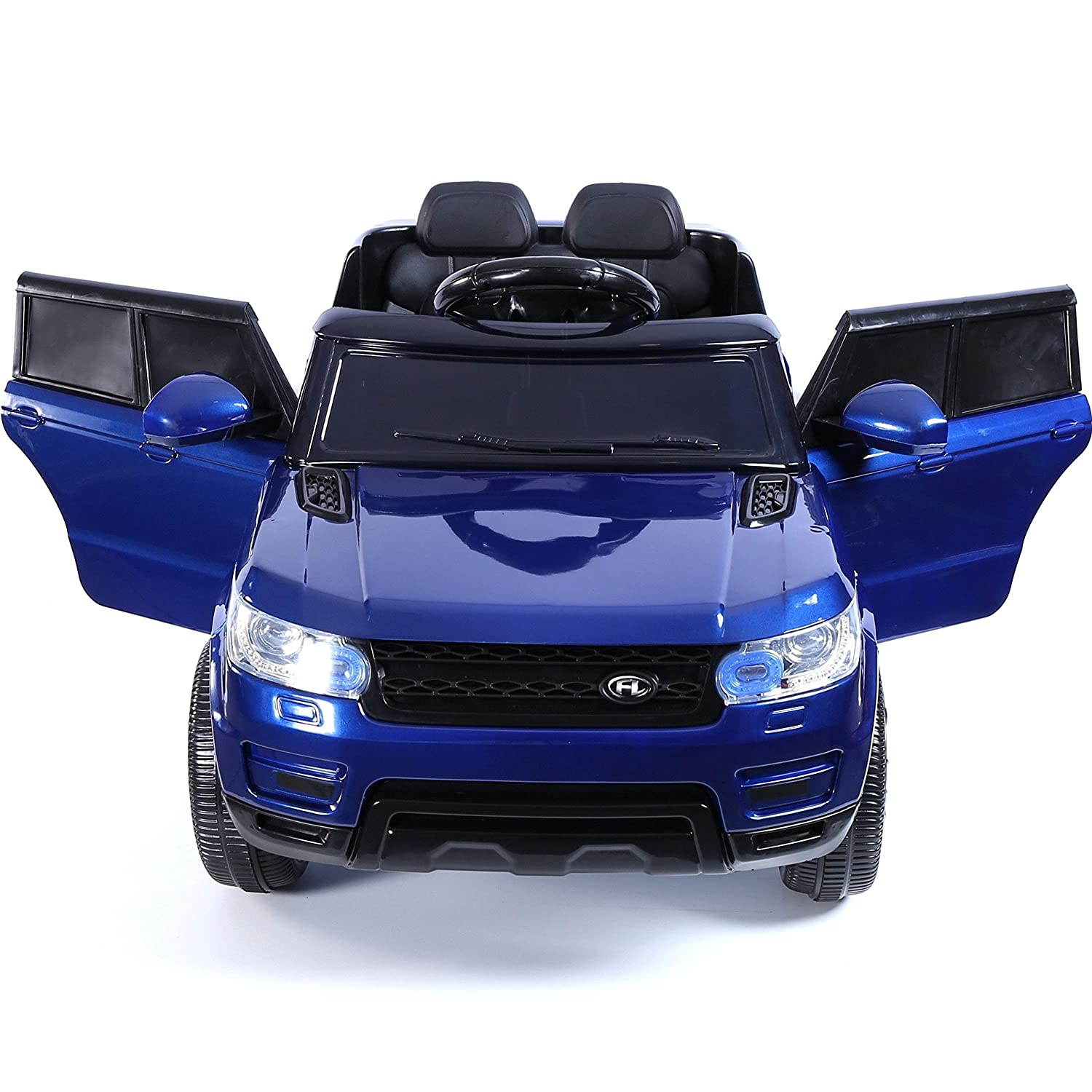 Black Outdoortoys Kids Mini HSE Sports Style 12V Ride On Jeep Battery Operated Electric Car with Parental Remote Control