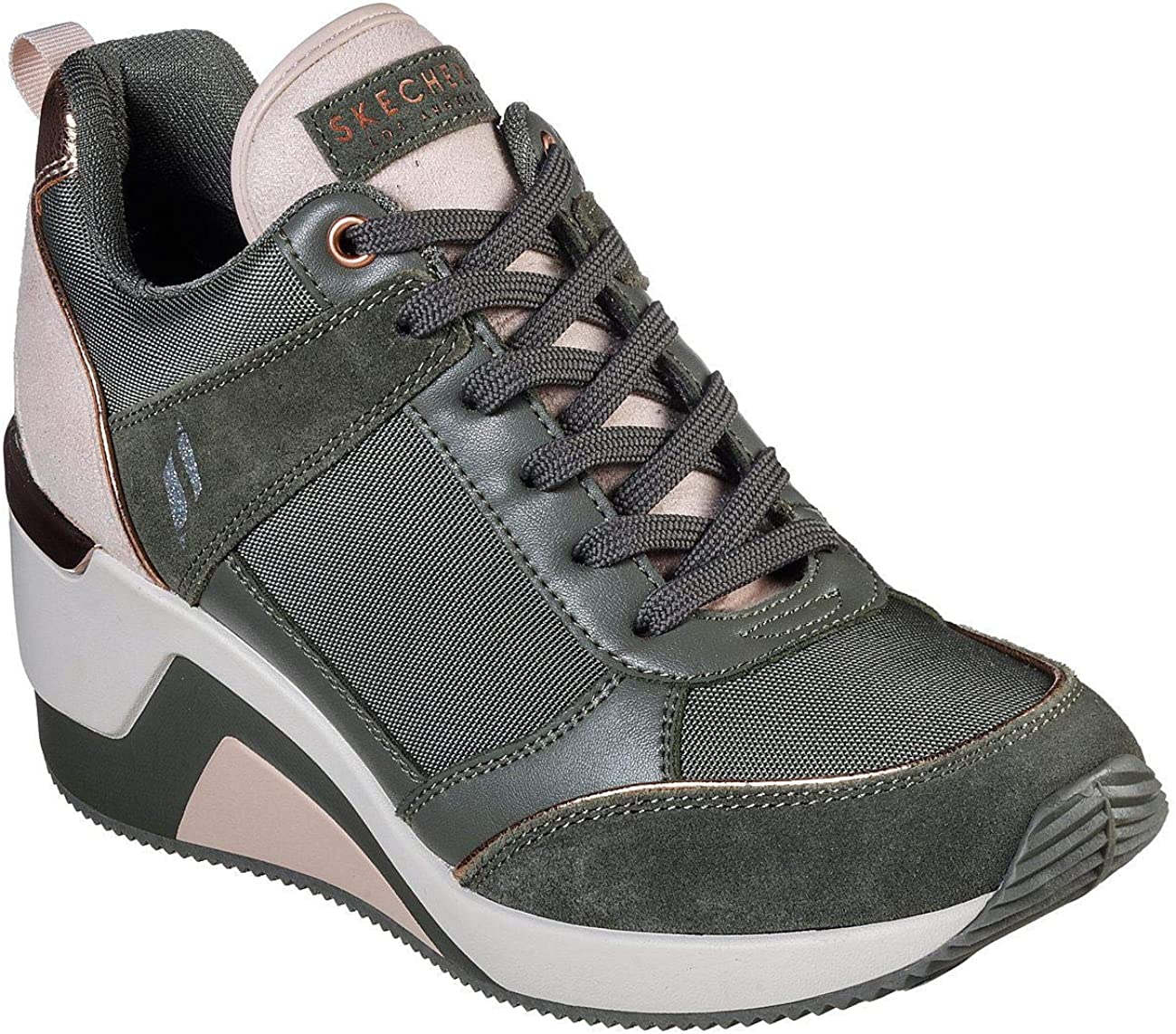 skechers high heel sneakers