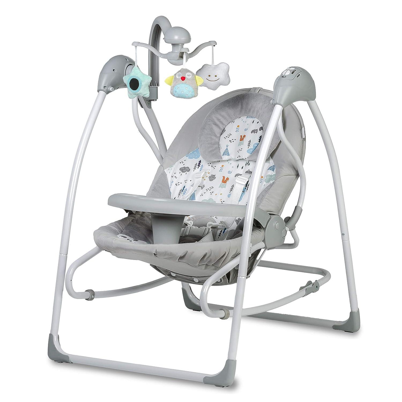 USB-Netzwerkkabel im Set ab Geburt bis 9 kg verwendbar Elektrische Babyschaukel mit Spielbogen /& Melodien KIDWELL LULA Multifunktional Babywippe 2in1