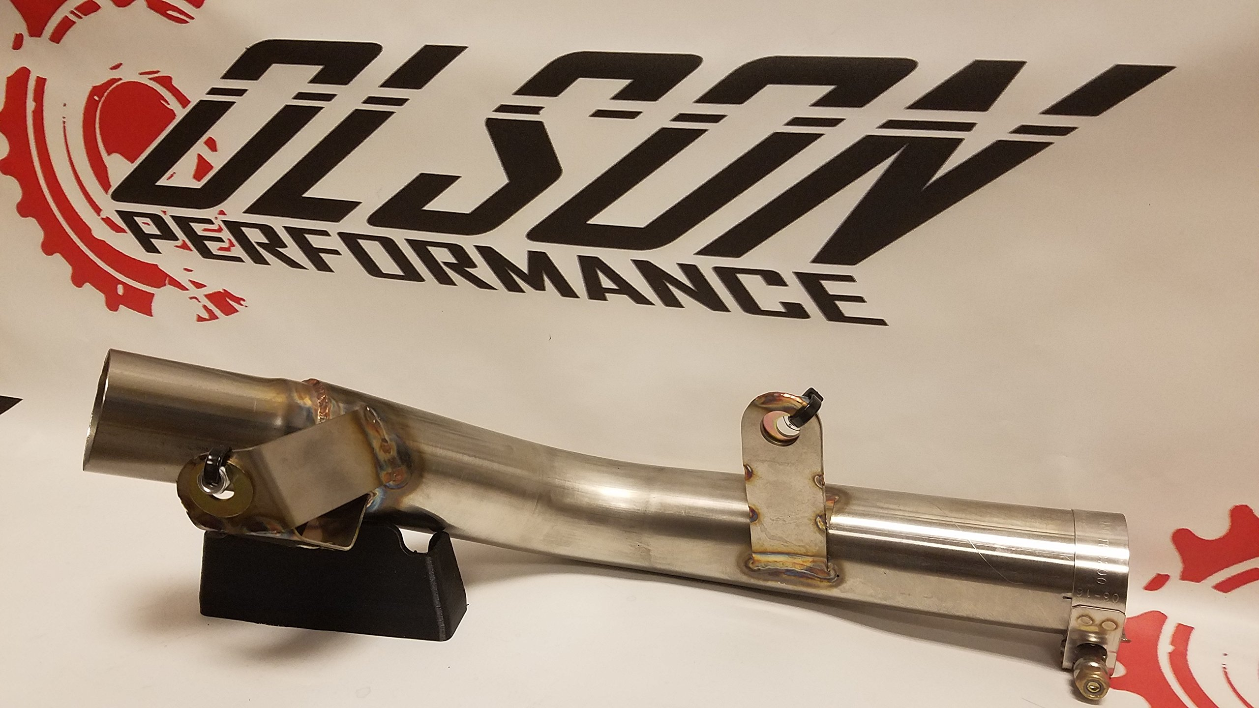 Suzuki GSXR 600/750 2011,2012,2013,2014 Cat Eliminator Mid pipe Link Pipe Decat midpipe by OLSON PERFORMANCE