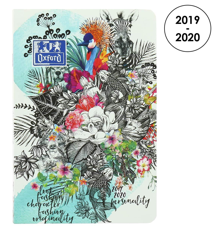 Oxford - Agenda escolar diaria 2017 – 2018, 1 día por página, 352 páginas, 12 x 18 cm, jungla. Edición limitada (idioma español no garantizado)