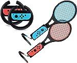 Steering Wheel / Tennis Racket Combo Pack for Nintendo Switch -