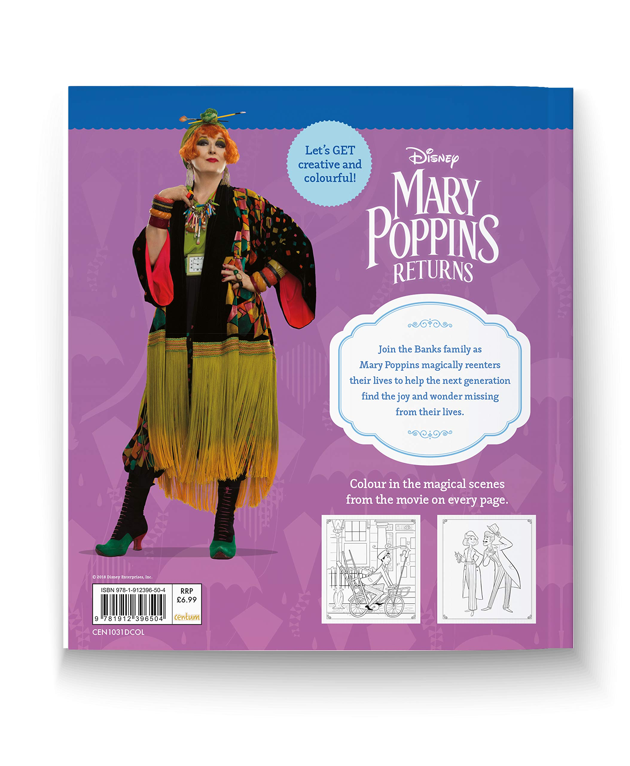 Mary Poppins Returns Deluxe Colouring Book: Centum Books Ltd (author ...