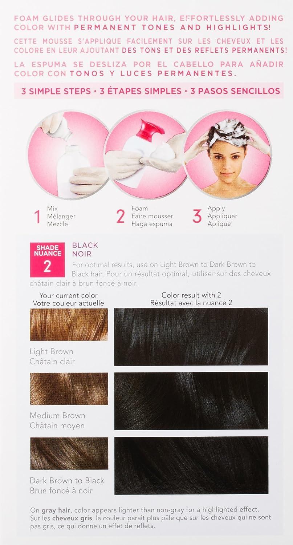 Amazon Clairol Nice N Easy Foam Hair Color 2 Black 1 Kit