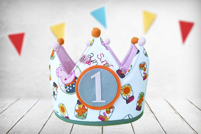 Corona cumpleaños Peppa Pig (Incluye todos los números ...