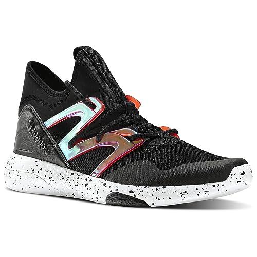 Reebok Women s Studio LES Mills Hayasu Dance Shoes Black Laser Red White  (8.5 8adcb6844