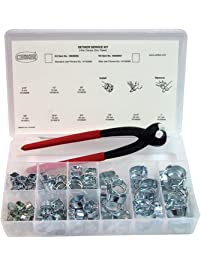 Oetiker 18500056 Service Kit (2-Ear Clamps, zinc Plated with Standard jaw Pincers)