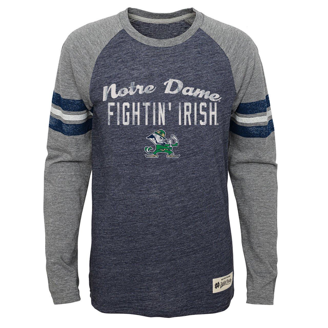 【クーポン対象外】 Notre Dame Fighting Irish Notre Youth NCAAフットボールPrideロングスリーブTシャツ – – B0764JQ8JP ネイビー、 Large B0764JQ8JP, 2019年新作入荷:692944cc --- narvafouette.eu