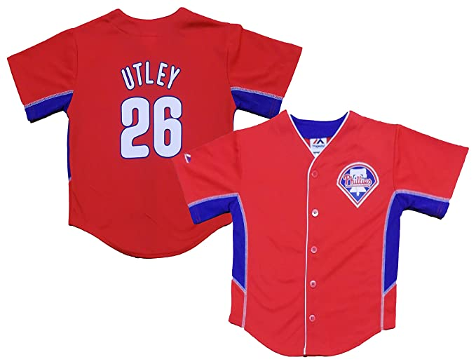 hot sale online 011d2 1f947 Amazon.com: Chase Utley Philadelphia Phillies #26 Red Kids ...