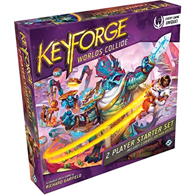 FFG Keyforge: Worlds Collide Unique Deck Game Two-Player Starter Set: Toys & Games