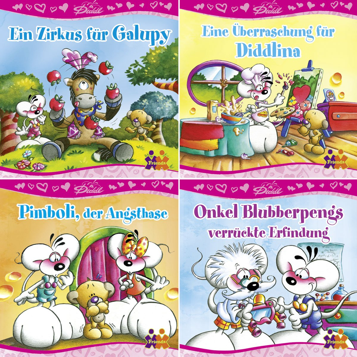 Mini-Bücher Diddl 1-4 (4er-Set)