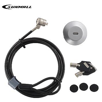sunmall portátil cerradura de combinación con ranura de bloqueo, candado antirrobo cable retráctil universal,