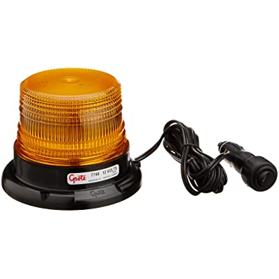 Grote 77483 Yellow Mighty Mini LED Strobe (Magnet Mount with Cigarette Lighter Adapter): Automotive