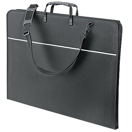 A2 or A1 Sizes A3 Mapac Quartz Black Portfolio Cases with Handle /& Strap